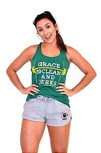 Regata Casal Wod - GRACE - Brasil (Verde)