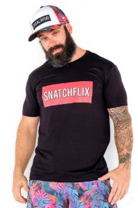 Camisa T-shirt Casal Wod Crossfit Collab Crossfunny - SNATCHFLIX (Preta)