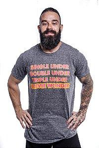 Camisa T-Shirt Casal Wod Crossfit -STEVIE WONDER (Mescla)