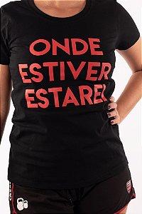 Camisa Baby look Casal Wod Crossfit - ONDE ESTIVER ESTAREI (Preta)