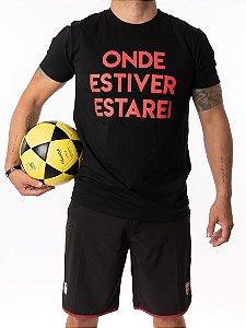 Camisa T-shirt Casal Wod Crossfit - ONDE ESTIVER ESTAREI (PRETO)