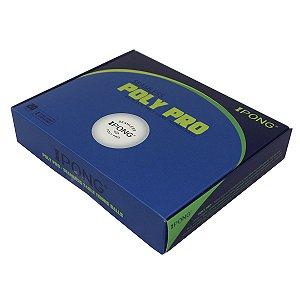 Bola de plástico sem costura iPong Poly Pro 40+ - Caixa com 20 unidades