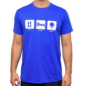 Camiseta Eat Sleep Pong Poliamida Masculina
