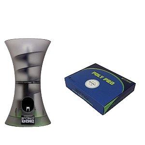 KIT: Robô de Treinamento de Tênis de Mesa iPong Expert + Bola para tênis de mesa iPong Poly Pro 40+ com 20 unidades