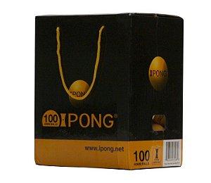 Bolas iPong (laranja - caixa c/ 100)
