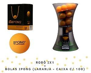 KIT: Robô iPong Expert + Bolas iPong (laranja - caixa c/ 100)