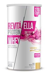 Whey Revitá Protein Ella sabor Doce de Leite - CháMais - 400g
