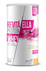 Whey Revita Protein Ella sabor Banana Flambada - CháMais - 400g