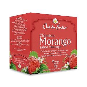 Chá Misto de Morango - Chá da Índia – 10 Sachês
