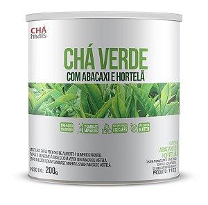 Chá Verde com Abacaxi e Hortelã Solúvel - Zero Açúcar - CháMais - 200g