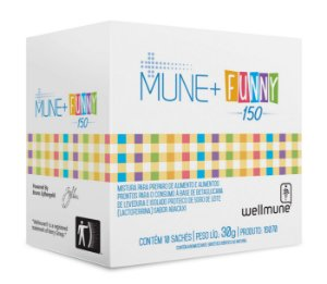 Mune+ Funny, sabor Abacaxi  - CháMais - 10 Sachês