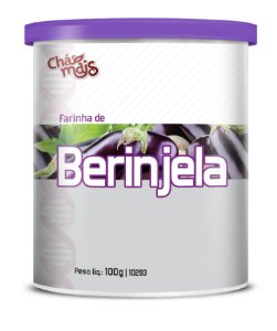 Farinha de Berinjela - CháMais - 100g - Pote