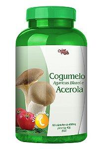 Cogumelo Agaricus Blazei e Acerola em cápsulas - CháMais - 100 caps