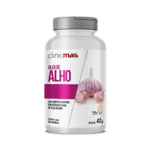 Óleo de Alho em cápsulas - 60 caps - 42g - ClinicMais