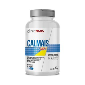 Calmais +800 - Suplemento de cálcio à base de Concha de Ostras - 90 caps - 72g - ClinicMais