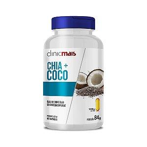 Chia + Coco - Óleo de chia e óleo de coco em cápsulas - 60 caps - 84g - ClinicMais