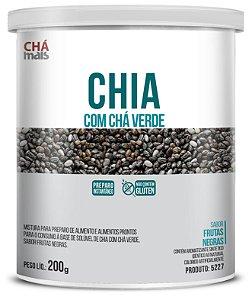 Chia com Chá Verde sabor Frutas Negras Solúvel - CháMais - 200g