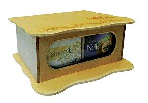 Caixa De Madeira - CháMais -  4 Sabores