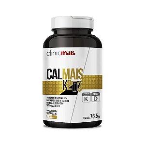 CalMais K2 D3 - Suplemento alimentar em cápsulas a base de Concha de Ostras com Vitaminas K2 e D3 - 90 caps - 76,5g - ClinicMais
