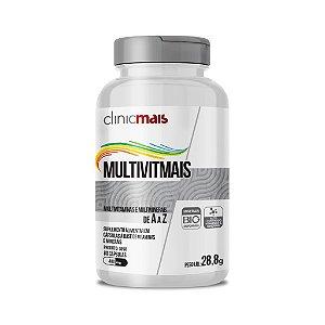 MultivitMais - Suplemento alimentar em cápsulas à base de vitaminas e minerais - 120 caps - 28,8g - ClinicMais