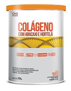 Colágeno com Betacaroteno, sabor Abacaxi e Hortelã- Solúvel - CháMais - 250G