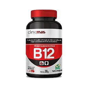 Vitamina B12 - Suplemento alimentar em cápsulas - 60 caps - 30g - ClinicMais