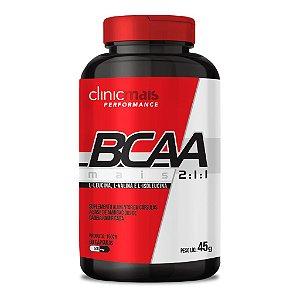 BCAA Mais 2:1:1 - L-leucina, L-valina e L-isoleucina - Suplemento alimentar em cápsulas à base de aminoácidos de cadeia ramificada - 90 caps - 45g - ClinicMais