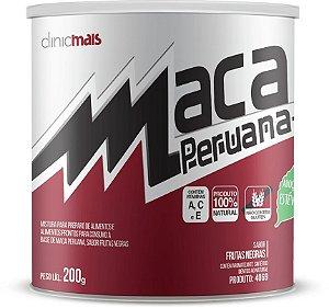 Maca Peruana sabor Frutas Negras - Solúvel - ClinicMais -  200g