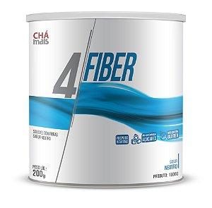 4 Fiber sabor Neutro, Solúvel  - CháMais - 200g