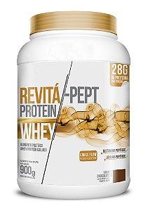 Whey Revita Pept Protein sabor Chocolate - CháMais - 900g