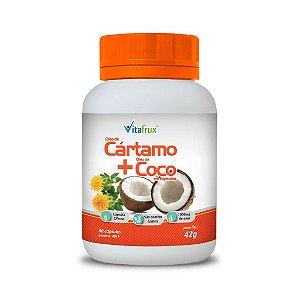 Óleo de Cártamo + Óleo de  Coco em cápsulas - Vitafrux - 30 caps