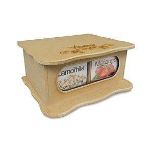 Caixa De Madeira - Vitafrux -  4 Sabores