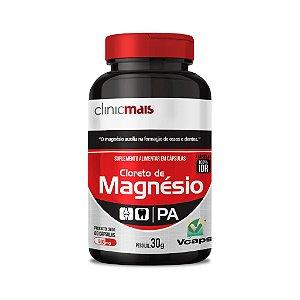 Cloreto de Magnésio - Suplemento alimentar em cápsulas - 60 caps - 30g - ClinicMais