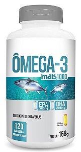 Ômega-3 Mais 1000 - Óleo de Peixe em cápsulas - 120 caps - 168g - ClinicMais