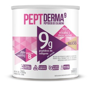 Colágeno PeptDerma9 sabor Suave de Baunilha - Solúvel - CháMais - 253g