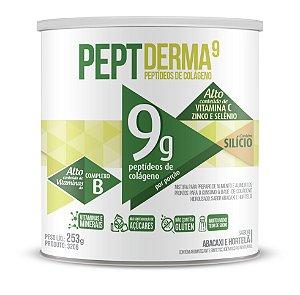 Colágeno PeptDerma9 sabor Suave de Abacaxi e Hortelã - Solúvel - CháMais - 253g
