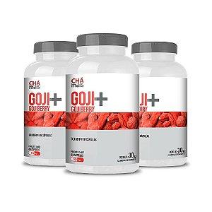 Combo 3 Potes - Goji+ - Goji Berry em cápsulas - ClinicMais -  60 caps