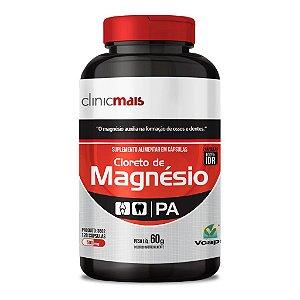 Cloreto de Magnésio - Suplemento alimentar em cápsulas - 120 caps - 60g - ClinicMais