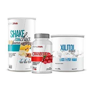 Combo - Shake com chia, Cranberry em cápsulas e Xilitol - ClinicMais
