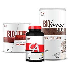 Combo - Solúvel Bio Fitins, Óleo de Cártamo em cápsulas e Shake Bio Forma