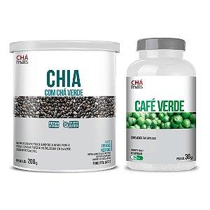 Combo - Solúvel Chia com Chá Verde e Café Verde em cápsulas