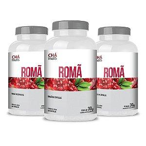 Combo 3 Potes - Romã em cápsulas - 60 cápsulas - ClínicMais