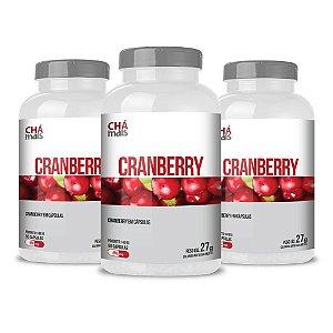 Combo 3 Potes - Cranberry em cápsulas - 60 cápsulas - ClínicMais