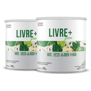Combo 2 latas - Solúvel Livre+ Green - 200g - ClínicMais