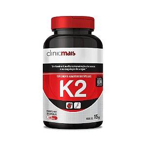 K2 - Suplemento alimentar em cápsulas - 30 caps - 15g - ClinicMais