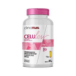 CeluLess - Óleo de Cártamo + Semente de Uva em cápsulas - 60 caps - 84g - ClinicMais