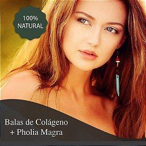 Balas de Colágeno + Pholia Magra 300 mg - Queima de gordura na região abdominal e sensação de saciedade.