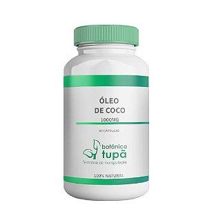 Óleo de Coco - 1000 mg - Auxilia na redução de gordura abdominal.