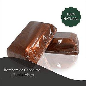 Bombom de Chocolate 10g + Pholia Magra - 300 mg - Contribui para uma maior queima de gorduras localizadas principalmente do abdômen e sacia vontade de comer doces