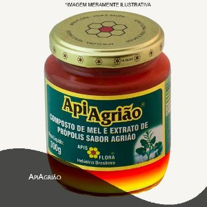 APIAGRIÃO® - MEL COM PRÓPOLIS E SABOR AGRIÃO 300G